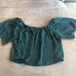 Green forever 21 top